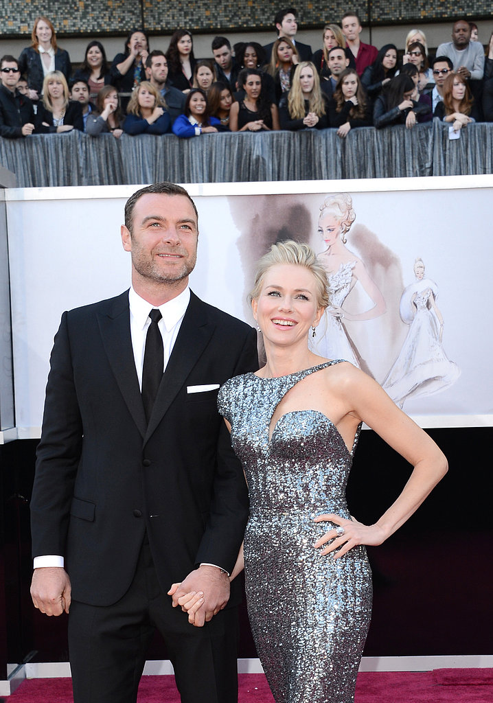 Naomi Watts and Liev Schreiber were hand in hand on the Oscars red carpet together.