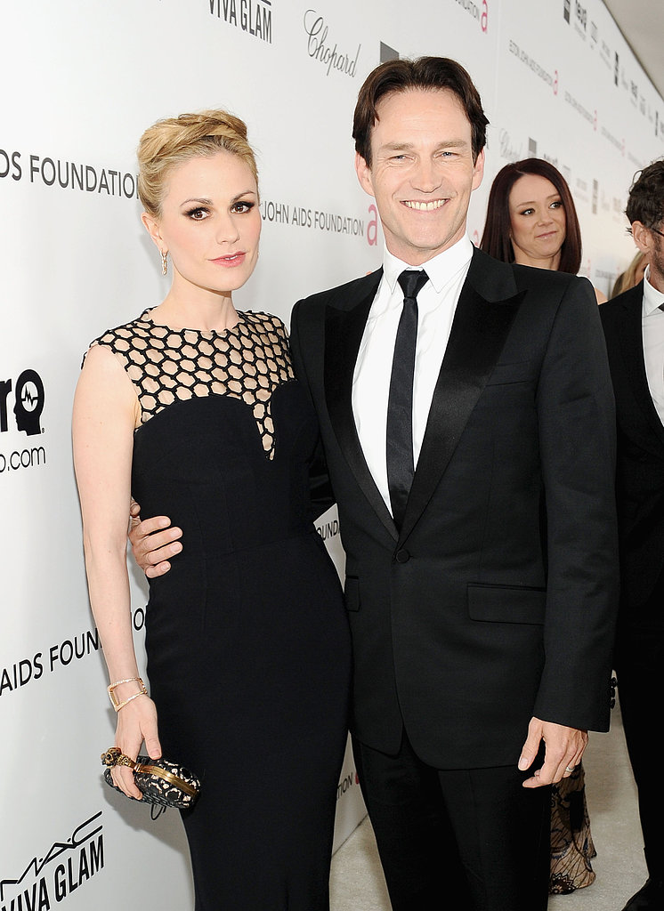 Anna Paquin and Stephen Moyer stepped out for Elton John's Oscar party together in LA.