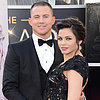 Channing Tatum and Pregnant Jenna Dewan at 2013 Oscars