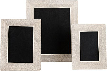 R & Y Augousti Antique Shagreen Frames