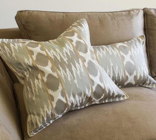 Karlie Ikat Embroidered Pillow Covers