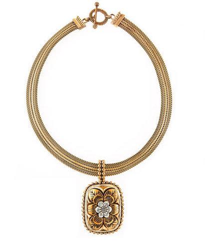 Stephen Dweck Floral Pendant Necklace