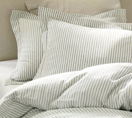 Vintage Ticking Stripe Duvet Cover & Sham - Blue