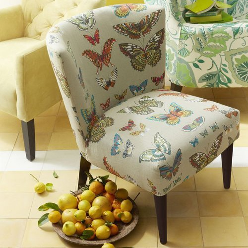 Veronica Taper Leg Chair - Prints