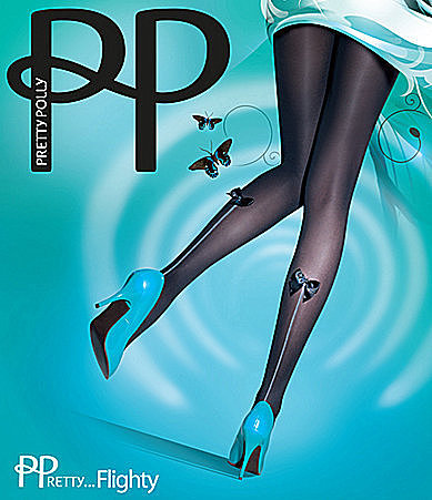 Pretty Polly Flighty Bow Backseam Tights