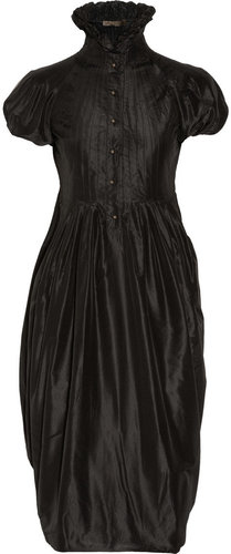 Alexander McQueen Pleated silk-taffeta dress