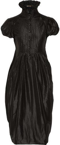 Alexander McQueen Pleated silk-taffeta dress