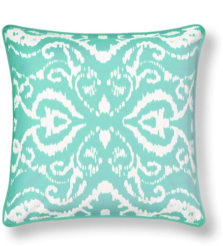 Printed Ikat Damask Pillow Cover