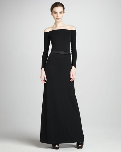 Halston Heritage Off-The-Shoulder Gown