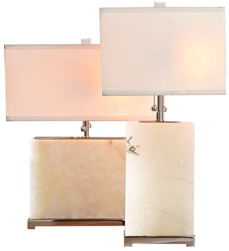 Alabaster Block Lamps
