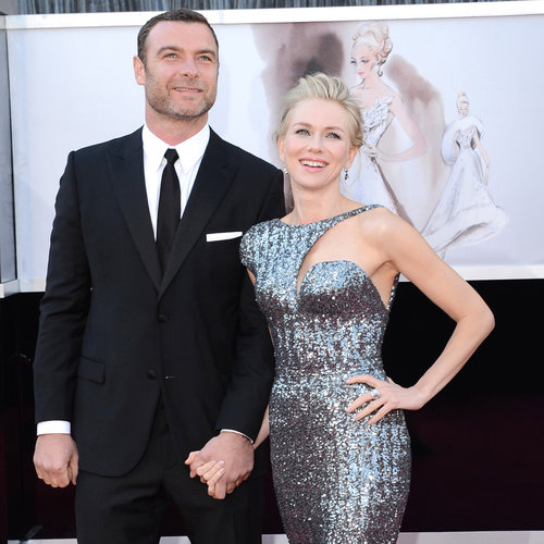 Naomi Watts and Liev Schreiber at the Oscars 2013