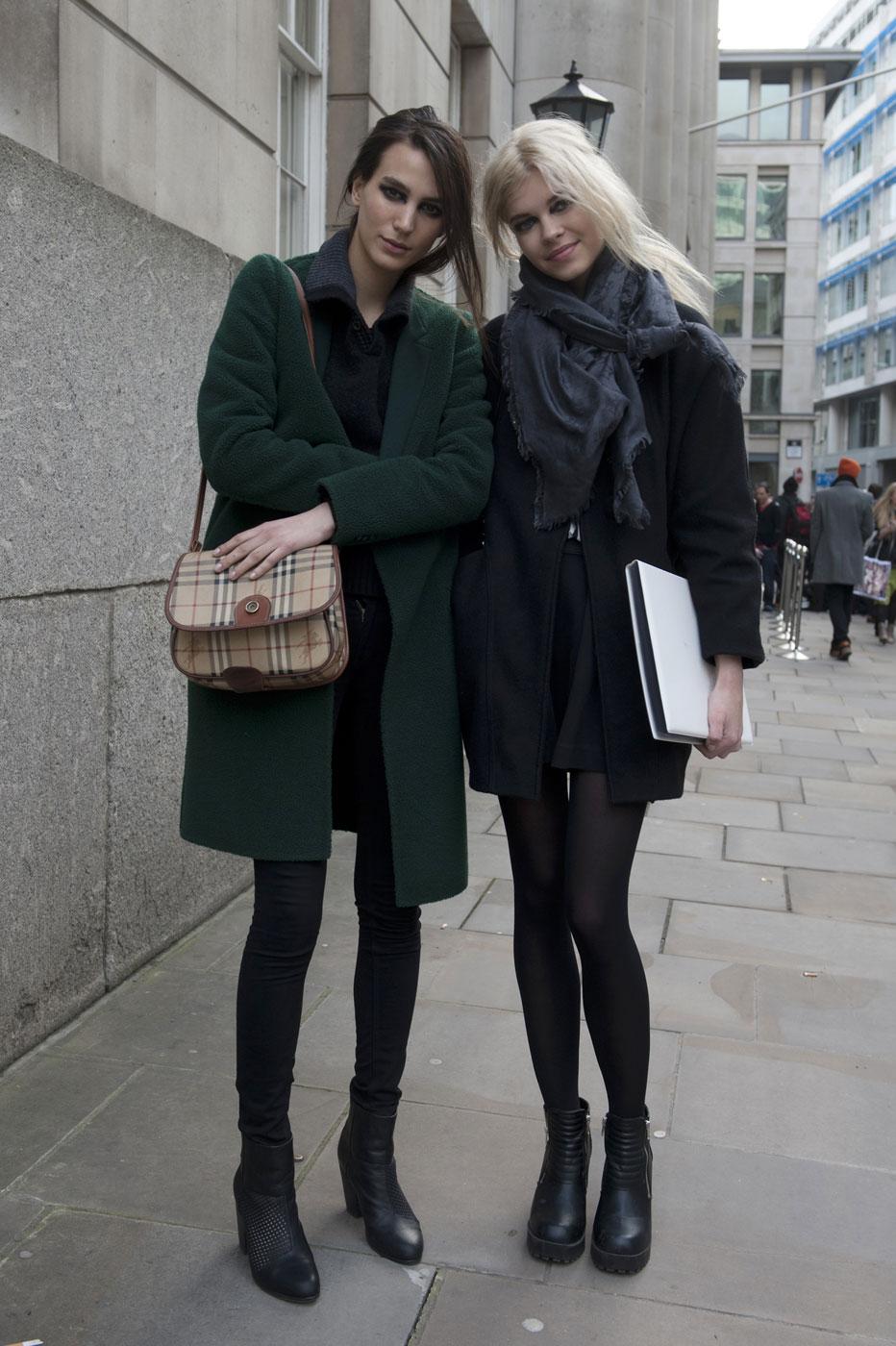 London Fashion Week Street Style Fall 2013 Cheerio The