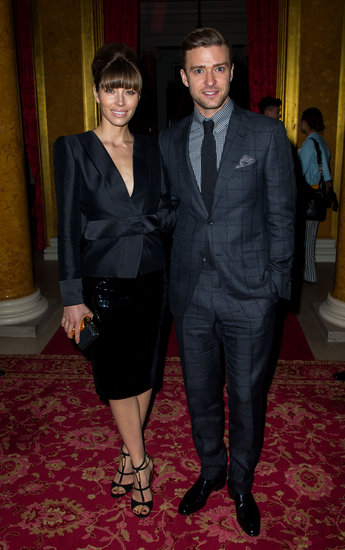 Justin Timberlake and Jessica Biel attended the Tom Ford Fall 2013 runway show in London.
