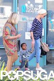 Charlize Theron held onto Jackson's hand in LA.