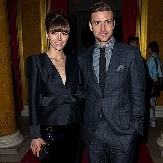 Justin Timberlake and Jessica Biel at Tom Ford Runway Show