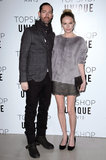 On Sunday, Kate Bosworth wore a furry top when she attended the Topshop Unique Autumn/Winter 2013 fashion presentation with Michael Polish.