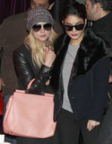 Ashley Benson and Vanessa Hudgens had dinner together in Paris on Sunday.