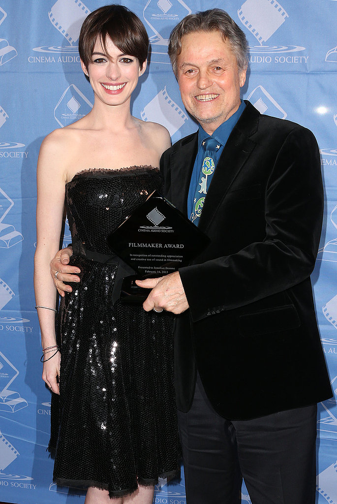 Anne Hathaway posed with Jonathan Demme.