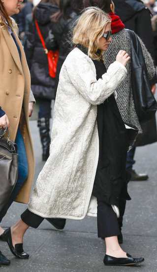 Ashley Olsen stepped out in flats.
