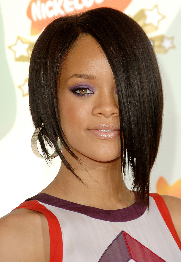 Rihanna just may be the queen of the asymmetrical hairstyle. This one-sided bob, which she sported at the 2007 Kids' Choice Awards, was a look to envy.