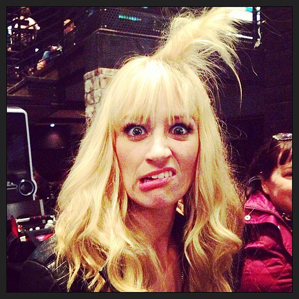 Beth Behrs debuted a There's Something About Mary-type style on 2 Broke Girls. Source: Instagram user bethbehrsreal