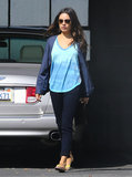 Mila Kunis stopped by Neil George Salon in LA.