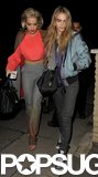 Friends Rita Ora and Cara Delevingne arrived at the Muse show together.