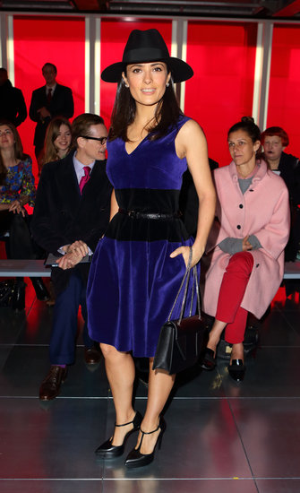Salma Hayek Hits Up London Fashion Week Ahead of the Oscars