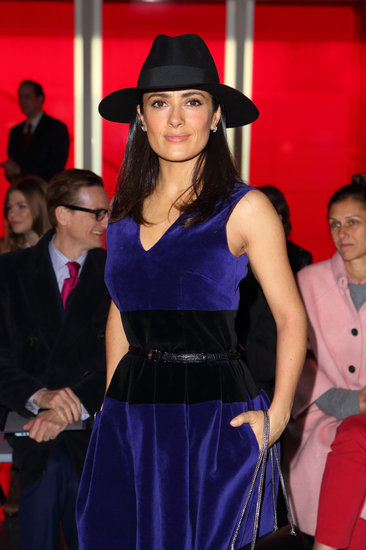 Salma Hayek attended the Christopher Kane fashion show.