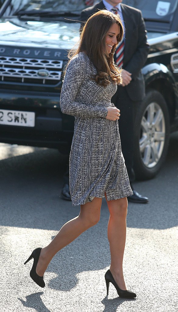 A pregnant Kate Middleton made her second official royal appearance of the year at Action on Addition, a house for female recovering addicts, in London.