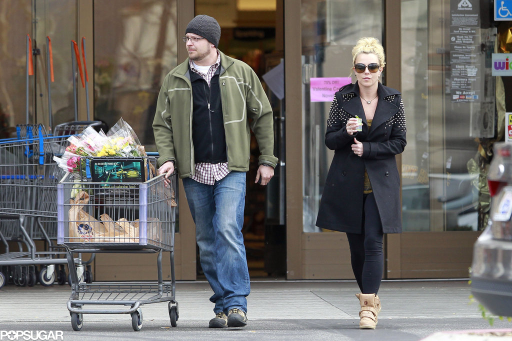 Britney Spears Wears Studs and Sneakers For an LA Supermarket Stop
