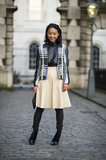 Shades of buttery and black leather played off of each other in this street-chic ensemble. Source: Le 21ème | Adam Katz Sinding