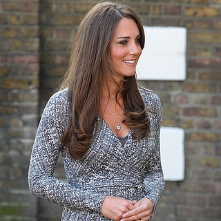 Pictures of Pregnant Kate Middleton in Wrap Dress