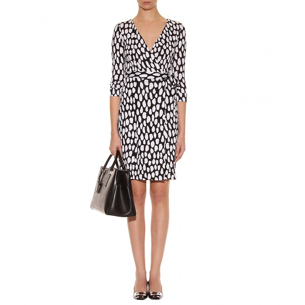 Leave it to Diane von Furstenberg to design the ultimate print wrap dress. Her  New Julian Two Wrap Dress ($345) is pe