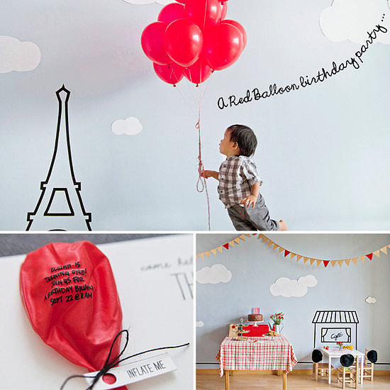 A Parisian Red-Balloon Party