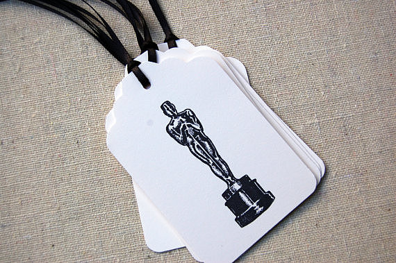 Treat your guests with your version of a celebrity perk by tying these gift tags ($5 for six) to goody-bag party favors.