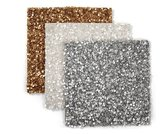 Keep your tablecloth pristine and party-ready with sequined place mats ($120 for four).