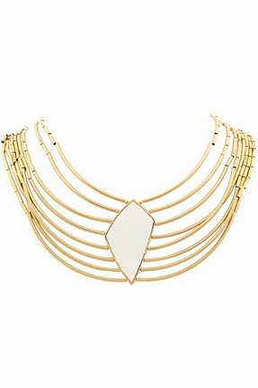 Belle Noel Asymmetrical Diamond Collar Necklace in Yellow Gold