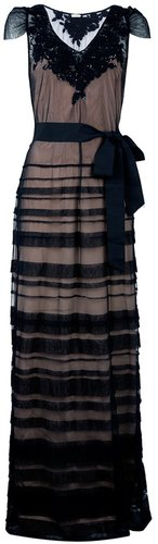 Hoss Intropia sheer evening dress