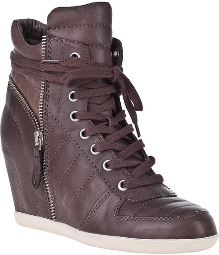 ASH Brooklyn Wedge Sneaker Stone Leather