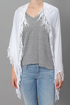 Minnie Rose Fringe Wrap Scarf Marshmallow