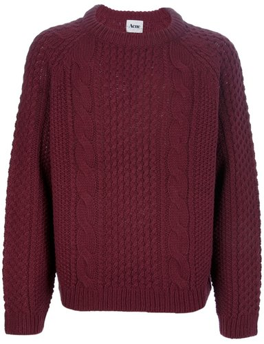 Requested Look: Oxblood Cable Knit Sweater