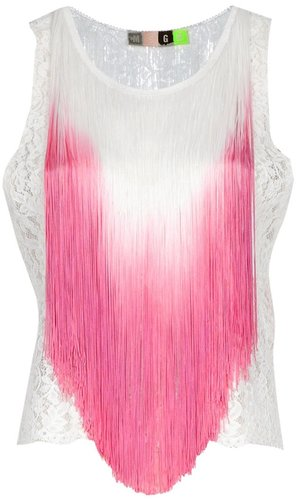 Msgm Fringed top