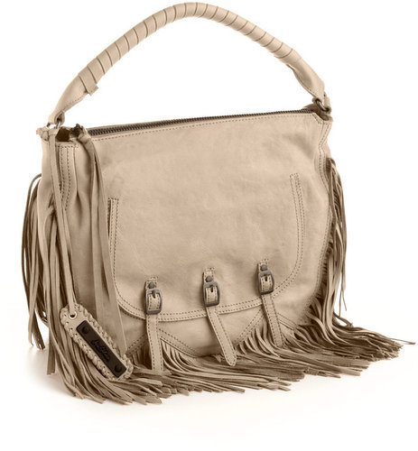 SAM EDELMAN Dorelia Fringe Leather Hobo Bag