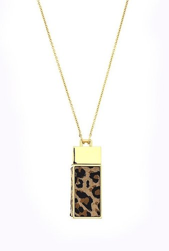 Belle Noel Leopard Suede Amulet Necklace