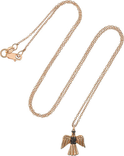 Ileana Makri Eagle 18-karat rose gold diamond necklace