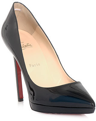 Christian Louboutin Pigalle plato 120mm patent-leather shoes