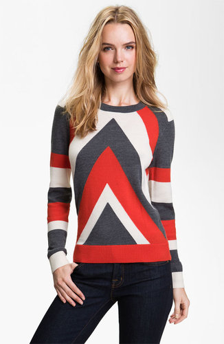 Milly 'Intarsia' Stripe Sweater