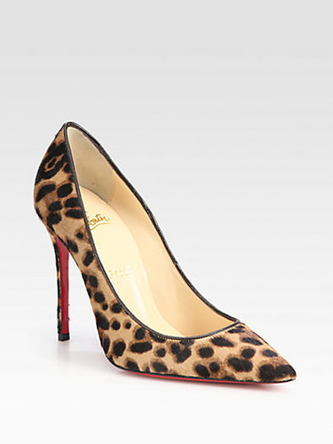Christian Louboutin Decollete Leopard-Print Pony Hair Pumps