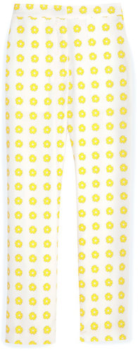 Floral Stamp Crop Trouser